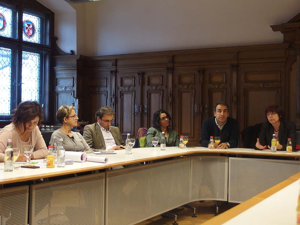 Discussion in Regensburg City Hall