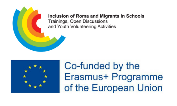 Logo RoMigSc + logo EU Erasmus